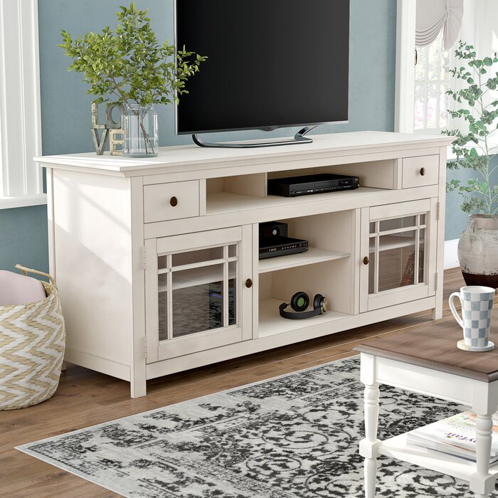 White Julee TV Stand for TVs up to 78