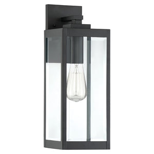 "Kaylie Outdoor Wall Lantern, Earth Black - 17"" x 6"" x 7.5"" (#K2589)"