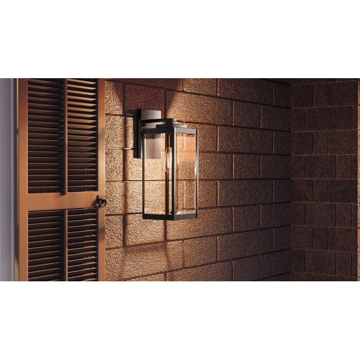 Kaylie Outdoor Wall Lantern, Earth Black - 17