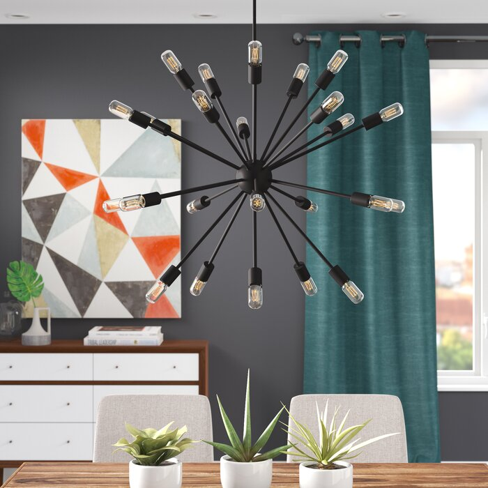 Kendall 24-Light Sputnik Chandelier (#551)