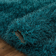 Load image into Gallery viewer, Kuki Shag Teal Area Rug KRUG029