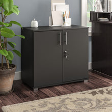 Load image into Gallery viewer, Lancaster Desk Height Storage Cabinet, Black (#K2546)