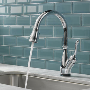 Leland Pull Down Touch Single Handle Kitchen Faucet with Touch2O Technology, Chrome (#K2060)
