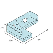 "Load image into Gallery viewer, Liberty 84"" Reversible Sleeper Sectional"