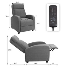 Load image into Gallery viewer, Manual Reclining Massage Chair, Gray