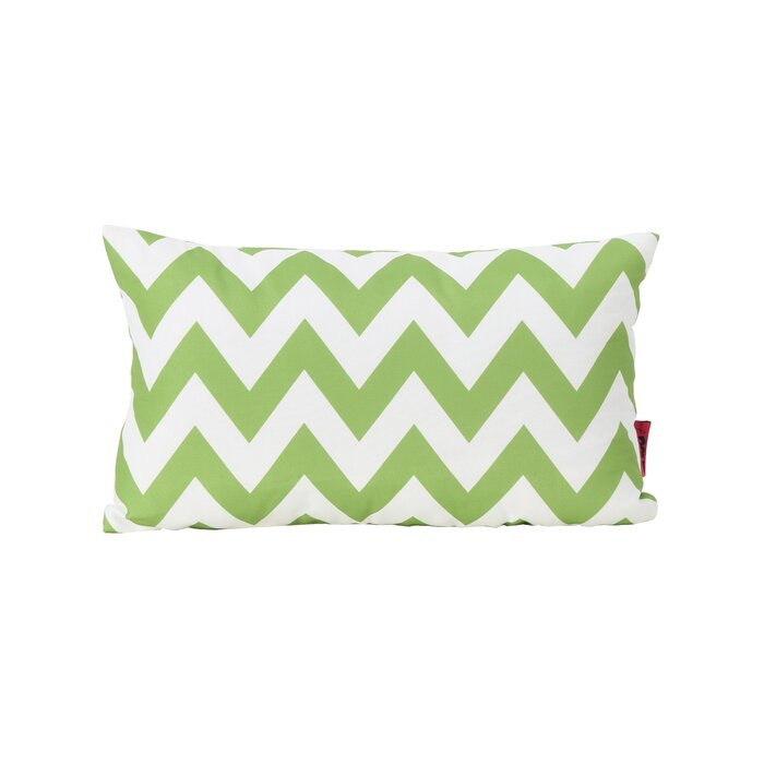 Set of 2 - Mayhew Rectangular Outdoor Lumbar Pillow, Green (#K2124)