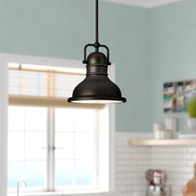 "Load image into Gallery viewer, Merrick 1-Light Dome Pendant, Bronze - 41.31"" H x 8.75"" W x 8.75"" (#K6490)"