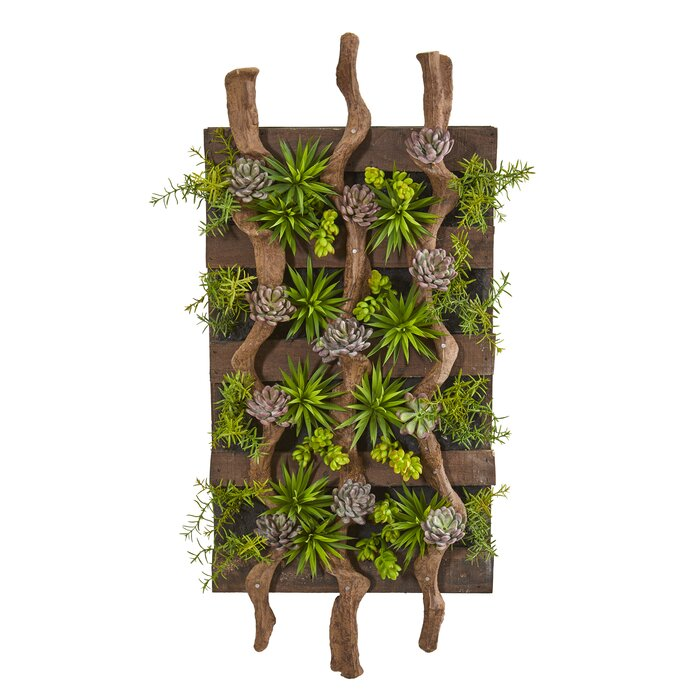 Mixed Artificial Living Wall Succulent (#895)