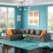 "Load image into Gallery viewer, Moore Living 120.5"" Modular Sectional"