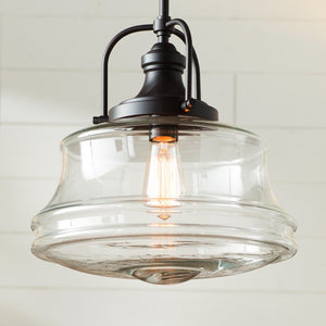 Nadine 1-Light Single Schoolhouse Pendant, English Bronze #HA465