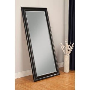 Northcutt Modern and Contemporary Beveled Full Length Mirror, Black (#K2204)