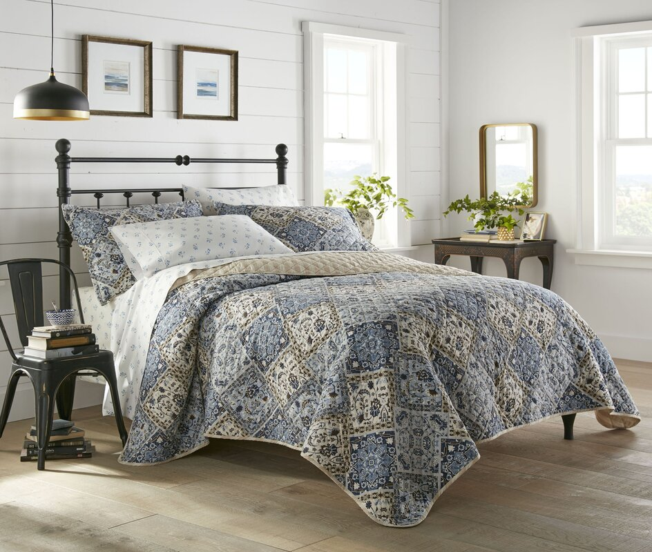 Olle Reversible Quilt Set, King #HA124