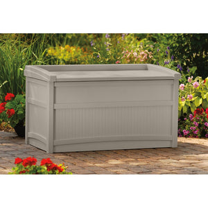 Light Taupe Outdoor 50 Gallon Resin Deck Box  2303