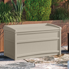 Load image into Gallery viewer, Light Taupe Outdoor 50 Gallon Resin Deck Box  2303