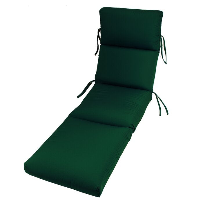 Kellner Indoor/Outdoor Sunbrella Chaise Lounge Cushion, Forest Green (#K2444)