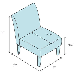 Peabody Slipper Chair, Blue (#K2232)