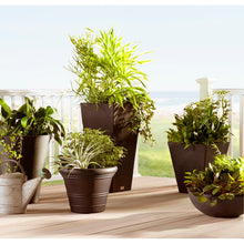 Load image into Gallery viewer, Espresso Brown Pure Series Plastic Pot Planter 2217