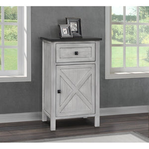 Quade Farmhouse 1 Drawer Nightstand, Grey (#552)