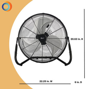 "Quiet 3-Speed High Velocity 18"" Blower Fan #HA646"
