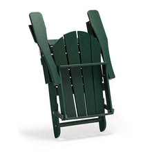 Load image into Gallery viewer, Alger Plastic/Resin Folding Adirondack Chair, Dark Green