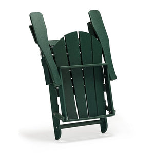 Alger Plastic/Resin Folding Adirondack Chair, Dark Green