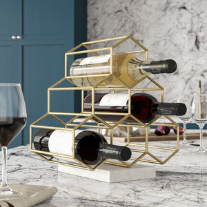 Rieth 6 Bottle Tabletop Wine Bottle Rack 7129