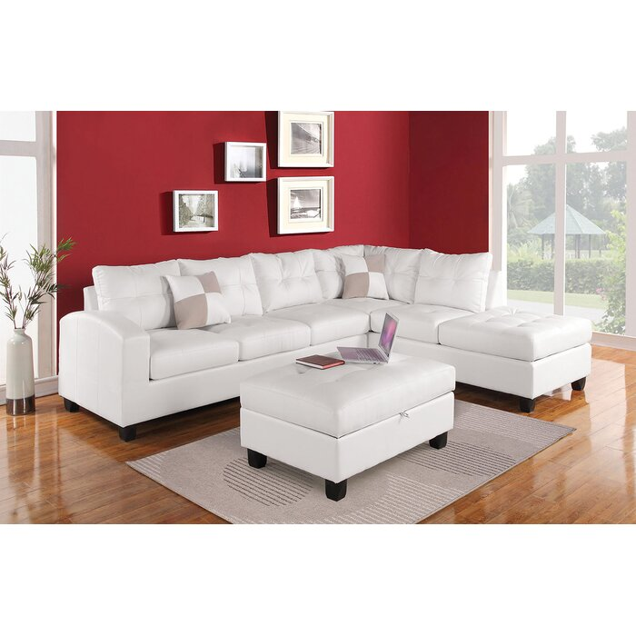 Ruthton Right Hand Facing Sectional with throw pillows