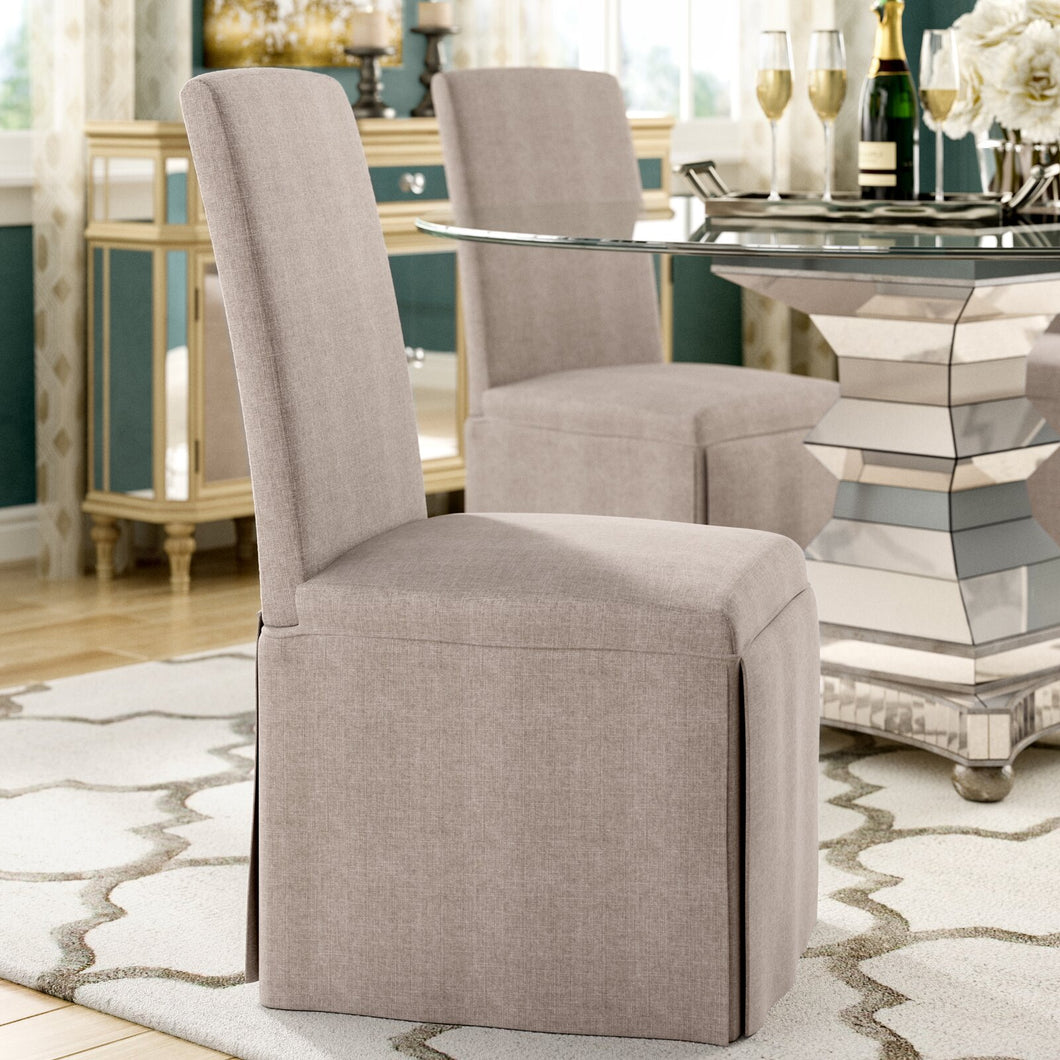 Linen Upholstered Parsons Dining Chairs (Set of 2)  #SA616
