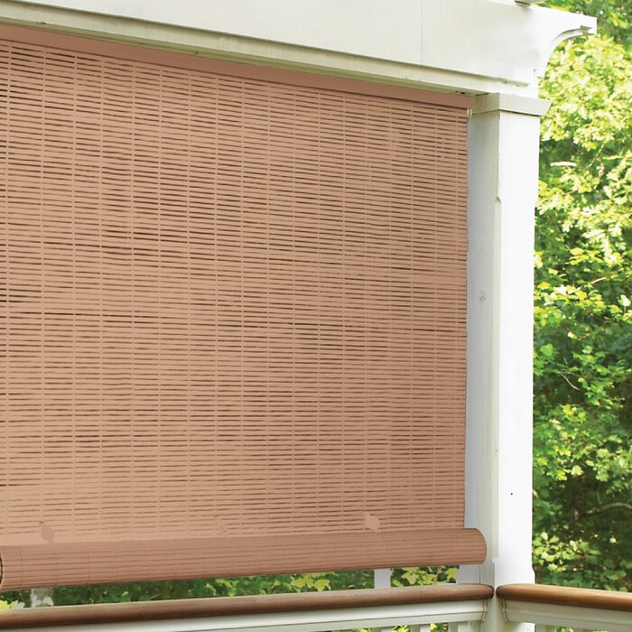 Cord-Free Semi-Sheer Outdoor Roll-Up Shade Blinds - 72