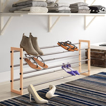 Load image into Gallery viewer, Expandable 3-Tier 15 Pair Stackable Shoe Rack  #SA644