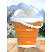 Load image into Gallery viewer, Orange Wakeman Outdoors 10L Collapsible Bucket  #SA656