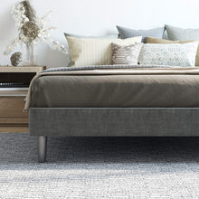 Load image into Gallery viewer, Gray Upholstered Platform Bed Frame - Queen  #SA671
