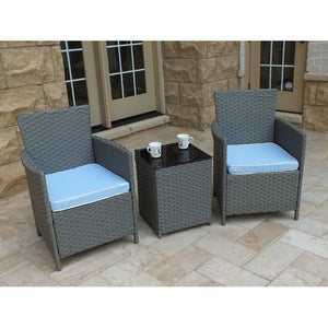 Pendergast 3-Piece Rattan Seating Group with Cushions  #SA770