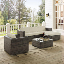 Load image into Gallery viewer, Crosley Sea Island 6-Piece Wicker Outdoor Sectional Seating Set  #SA857