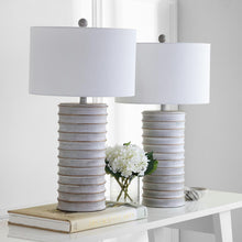 "Load image into Gallery viewer, Melina 28.5"" White Wash Rustic Table Lamps (Set of 2)  #SA885"