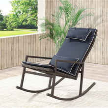 Load image into Gallery viewer, Tremberth Outdoor Wicker Rocking Chair with Cushions  #SA888