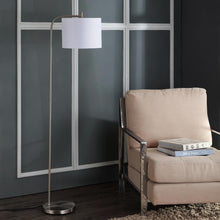 "Load image into Gallery viewer, Rafin 61.5"" Nickel Arc Floor Lamp  #SA910"