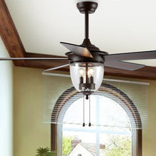"Load image into Gallery viewer, 52"" Kelso LED Ceiling Light Fan  #SA919"