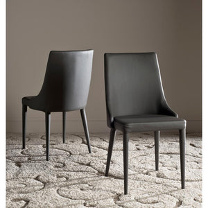 "Summerset Gray 19""H Leather Side Chairs (Set of 2)  #SA941"