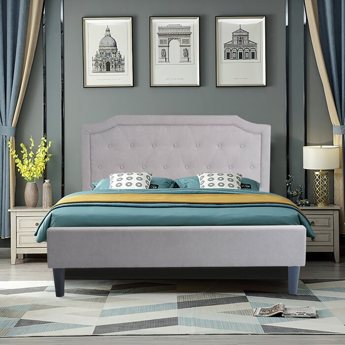 Schenk Upholstered Platform Bed - Queen (#901)