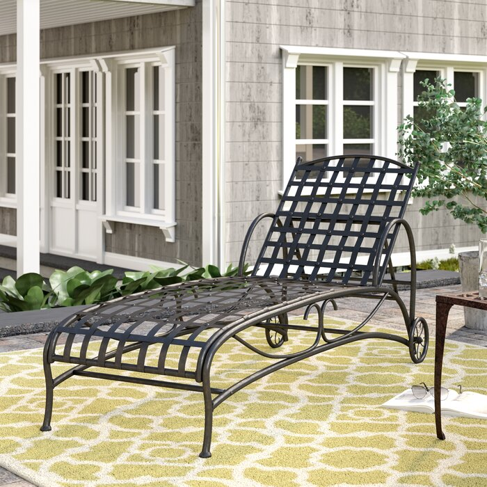 Schilling Reclining Chaise Lounge, Antique Black (#K2469)