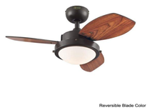 "Load image into Gallery viewer, 30"" Heskett 3 Blade Ceiling Fan, Light Kit Included, Espresso (#6)"