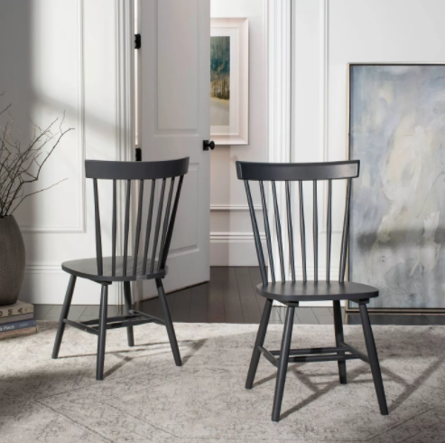 Set of 2 - Parker Dining Chairs, Grey (#127)