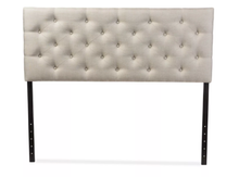 Load image into Gallery viewer, Viviana Faux Leather Upholstered Headboard, Light Beige - Queen (#350)
