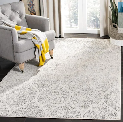 Hayley Ivory/Silver Area Rug - 12' x 15'
