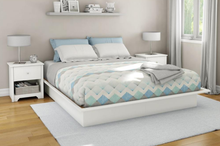 Load image into Gallery viewer, Step One Platform Bed, White - Queen (#541)