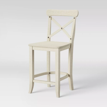 "Load image into Gallery viewer, SET OF FOUR - Litchfield 24"" X-Back Counter Stool, White (#311 - 4 BOXES)"