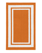 Load image into Gallery viewer, Garland Indoor/Outdoor Borderline Runner, Orange/White - 2' x 5' (#K2175)