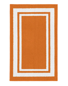 Garland Indoor/Outdoor Borderline Runner, Orange/White - 2' x 5' (#K2175)