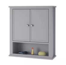 Load image into Gallery viewer, Durham Wall Cabinet, Gray (#K2180)
